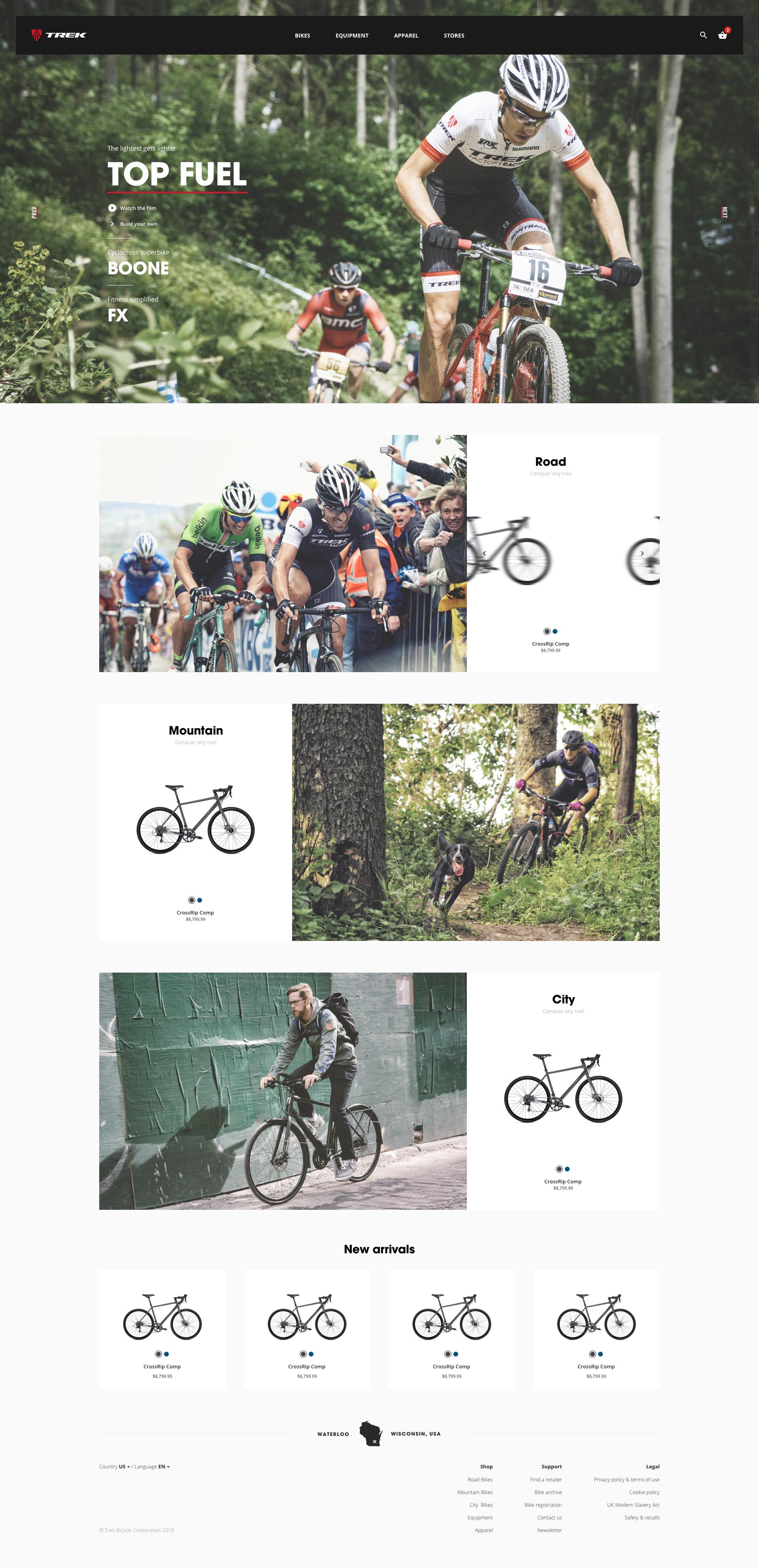 Trek - Homepage